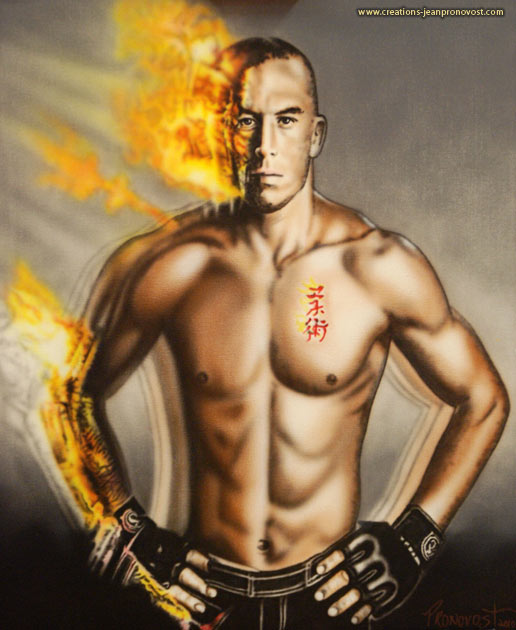 George St-Pierre airbrush