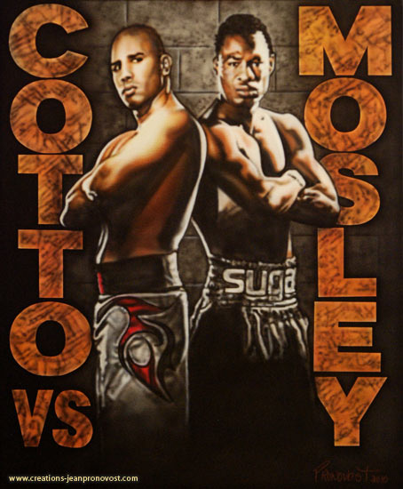 Cotto vs Mosley airbrush