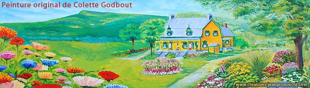 Peinture originale de Colette Godbout