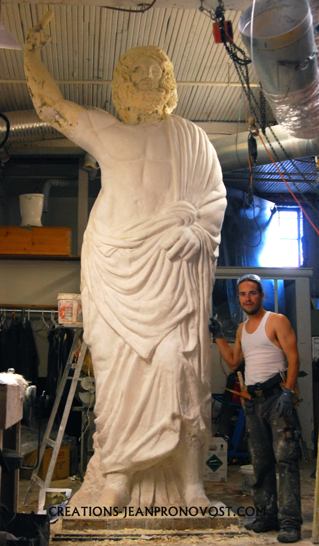 workshop of sculptor montreal, large size sculpture quebec. quebec sculptor. best sculptor.Jean Pronovost.