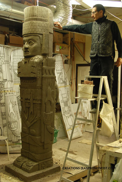replica atlantes de tula, replica tolteca, atlantes de tula reproduction, precolombian art replica, reproduction d'art precolombien.