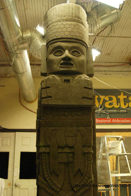 anciant sculpture replica, toltec sculpture replica, toltec art reproduction, replica de escultura maya y tolteca,