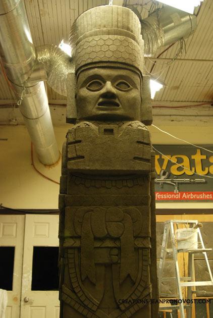 anciant sculpture replica, toltec sculpture replica, toltec art reproduction, replica de escultura maya y tolteca,