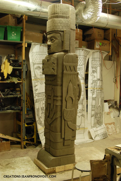 precolombian sculpture replica, atlantes de tula replica, colpie de l'atlantes de Tula, reproducion del atlantes de tula.
