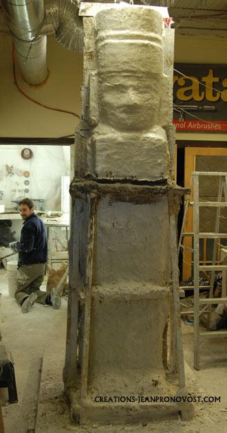 moulage d'art ancien, moulage maya, moulage tolteque, toltec molding, toltec art reproduction