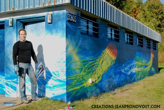 artiste peintre, murale exterieure, murale montreal