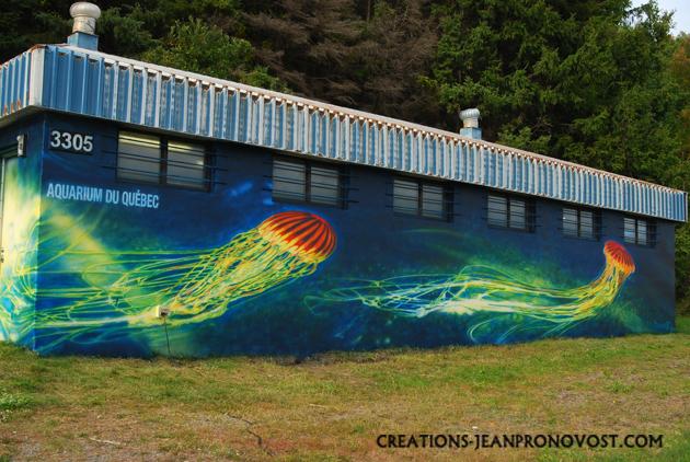airbrush mural, mural, extrior mural