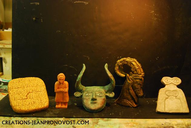 sculpture sumerienne, sculpteur Montrealais, sculpture quebec, sculpteur quebecois. reproduction d'art ancien.