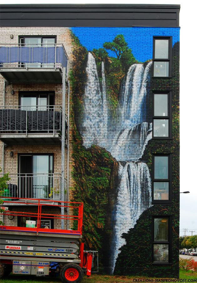 exterior airbrush mural, painted wall mural, airbrush large size mural, exterior wall mural