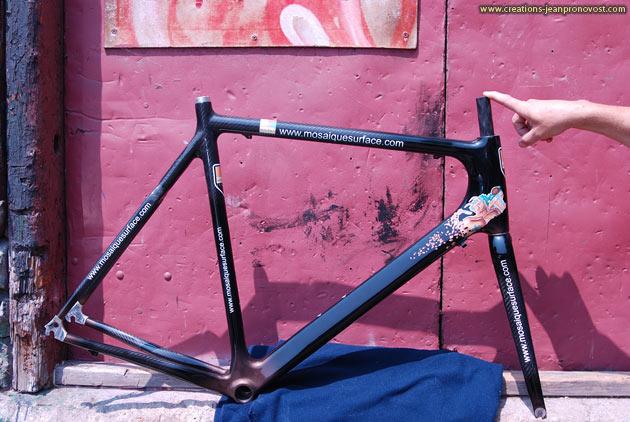 Airbrush sur vélo