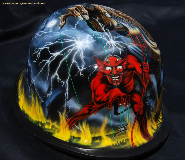 Airbrush Montreal - Iron Maiden Number of the beast