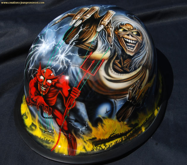 Airbrush Iron Maiden - Number of the Beast - Airbrush Montreal