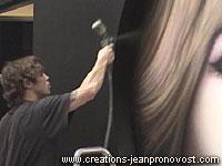 Jean Pronovost airbrush artist at work