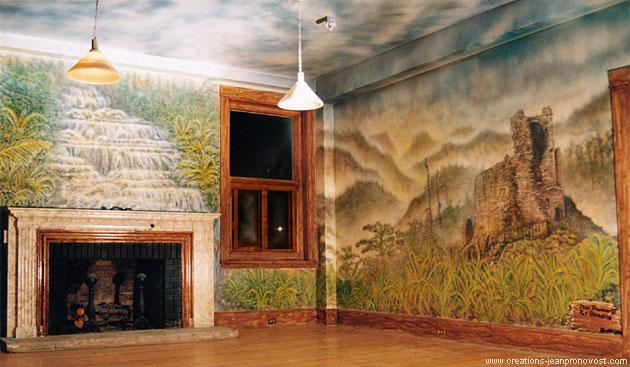 Murale peinte au airbrush