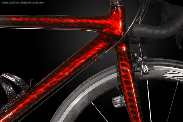 Airbrush sur vélo - peinture original sur bicyclette