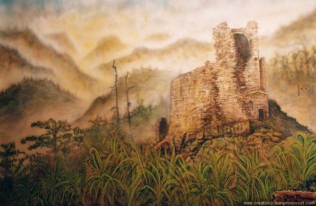 Murale au airbrush de style médiéval