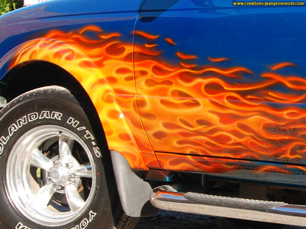Flammes airbrush