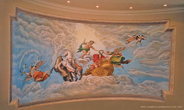 Fresque murale de style renaissance