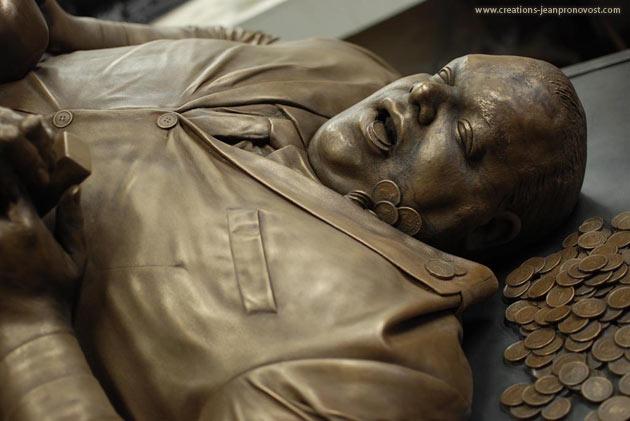 Sculpture bronze Montréal, art visionnaire