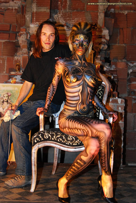 Body painting, bodypainting, Jean Pronovost