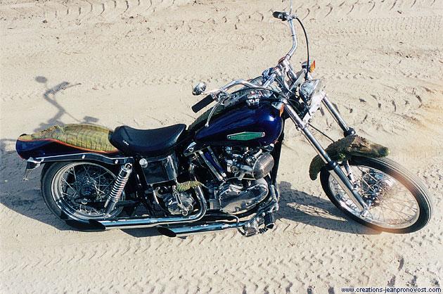 Harley Davidson custom crocodile