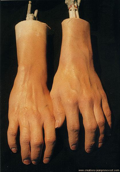 Moulage de modèle vivant - mains