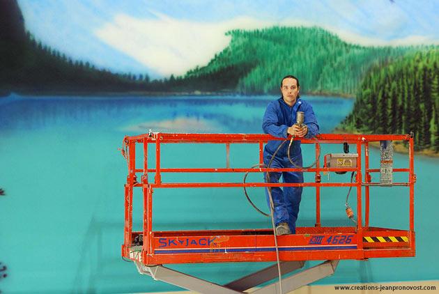 Murale Jean Pronovost Montréal - artiste peintre muraliste à Montréal