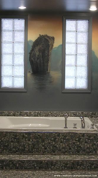 Murale Zen dans une salle de bain