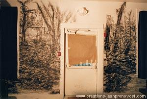 Travail de murale en cours