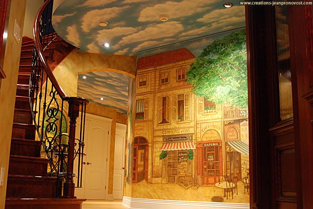 Murale décorative intérieur Paris rustique