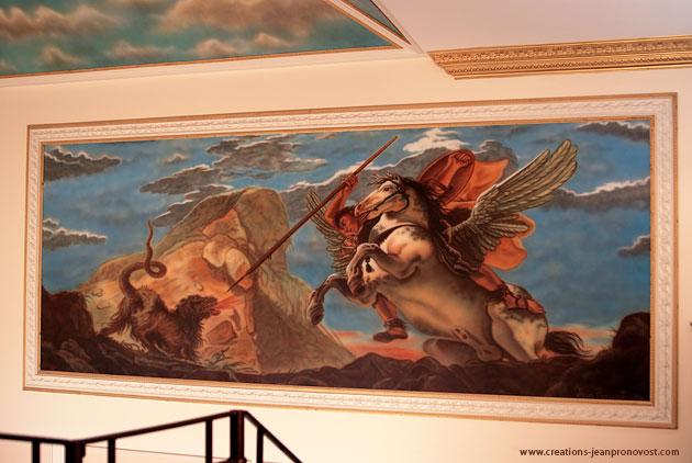 murale « Bellérophon » inspirée de Jean-Baptiste Tiepolo