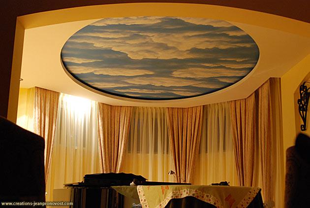 Murale au plafond