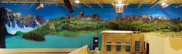 Murale panoramique grand format - Murale Montréal