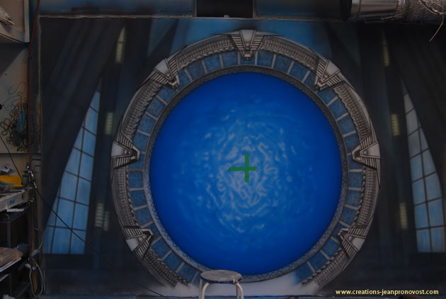 Stargate airbrush mural airbrushed by Jean Pronovost