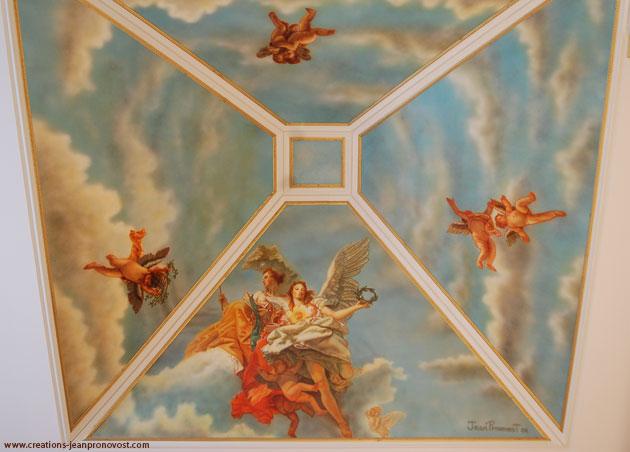murale mythologique exécutée à l'aérographe (airbrush)