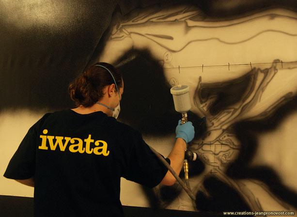 Jean Pronovost, Iwata airbrush, mural, Montreal