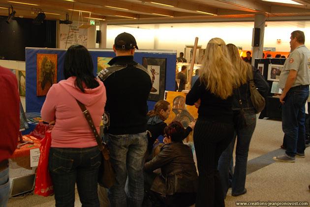 Peinture au airbrush en direct à Airbrush Magic 2008 en Suisse