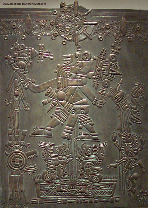 Low relief sculpture of the Aztec God Tlaloc