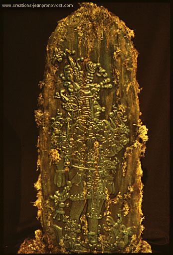 Sculpture d'inspiration maya