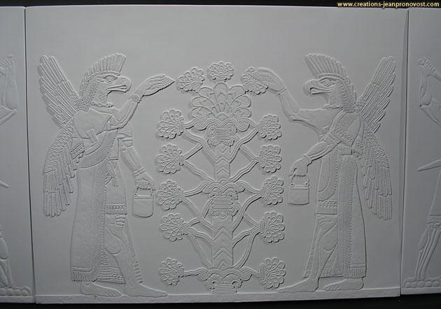 Sculpture bas-relief réalisé à Montréal
