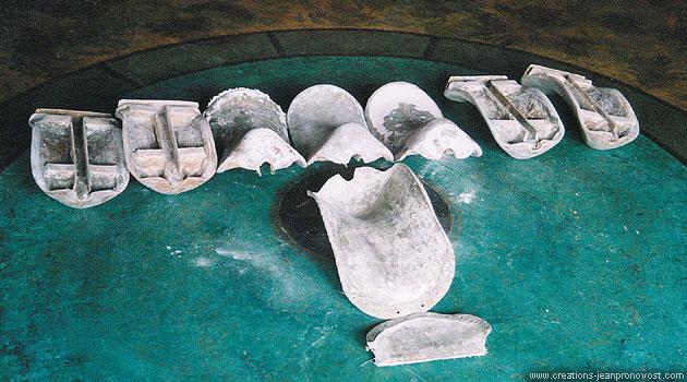 Série de sièges scéniques moulés sur mesure pour le spectacle de Céline Dion à Las Vegas