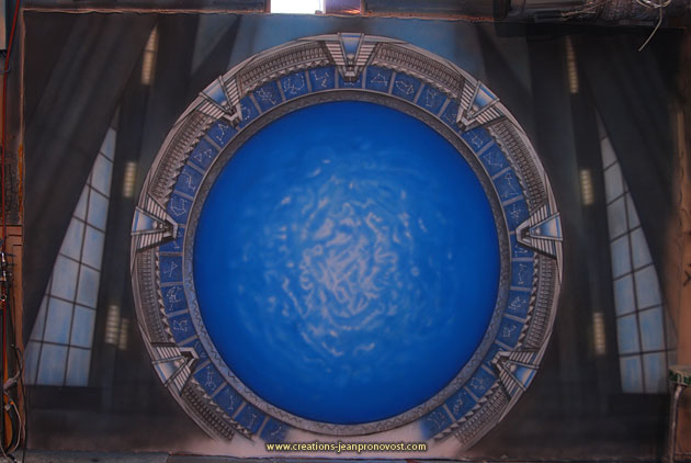 Stargate airbrush mural made in Montreal