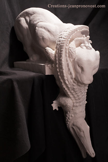 Sculpture jaguar renaissance - boutique sculpture Montréal, Québec, Canada