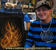 Airbrush flames lessons