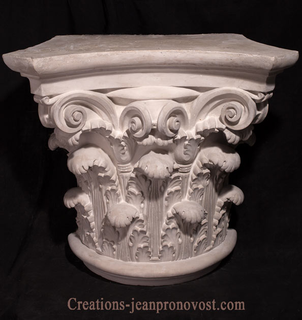 architectural capitals and bases, classical Greco-roman capital , greek capitals for sale, quebec ornemental  greek column and sculpture
