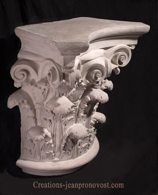 classical Greco-roman capital , architectural capitals and bases, ornemental greek and ancient sculpture, classic sculpture, corynthian column for sale canada