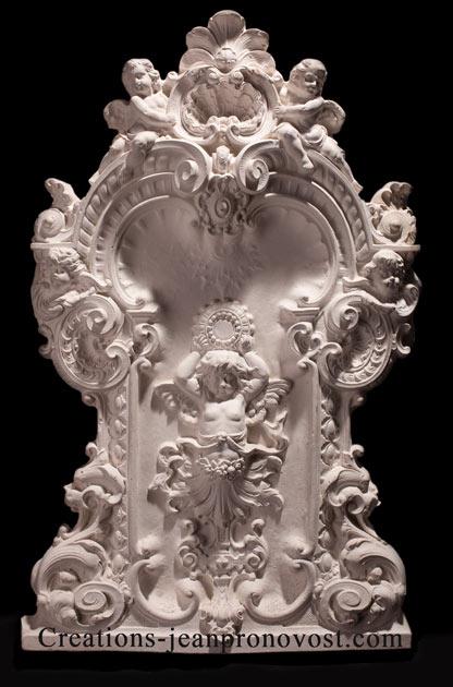 relief rococo, decoration de la renaissance, reproduction rococo , ornement rococo canada