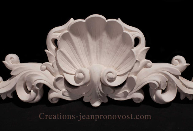 decorative shell plaque, shell ornament, decorative sculpture canada