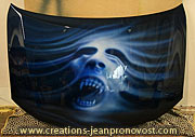 Airbrush car bodywork