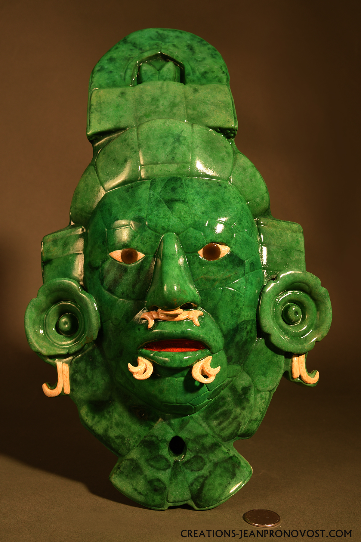 Jade mask sculpture of Calakmul